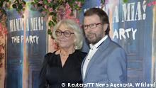20.01.2016 ***** Former Abba member Bjorn Ulvaeus and his wife Lena Kallersjo arrive for the premiere of Mamma Mia! The Party at Tyrol restaurant in Stockholm, Sweden, January 20, 2016. REUTERS/Anders Wiklund/TT News Agency ATTENTION EDITORS - THIS IMAGE WAS PROVIDED BY A THIRD PARTY. FOR EDITORIAL USE ONLY. NOT FOR SALE FOR MARKETING OR ADVERTISING CAMPAIGNS. THIS PICTURE IS DISTRIBUTED EXACTLY AS RECEIVED BY REUTERS, AS A SERVICE TO CLIENTS. SWEDEN OUT. NO COMMERCIAL OR EDITORIAL SALES IN SWEDEN. NO COMMERCIAL SALES. @ Reuters/TT News Agency/A. Wiklund
