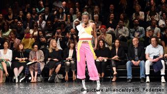 Berlin Fashion Week Sommer 2015, Bobby Kolade's show, Copyright: picture-alliance/dpa/B. Pedersen