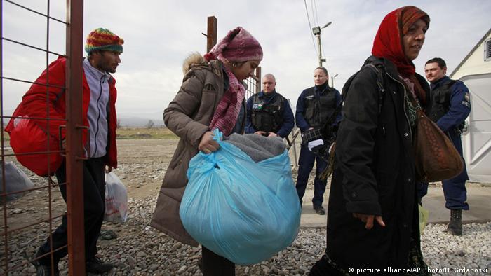 Mazedonien Grenzübergang zu Griechenland Gevgelija