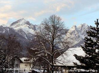 The Zugspitze in Bavaria is Germany's highest peak