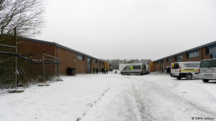 Два строения бундесвера под Вюрцбургом, переоборудованные под общежитие для беженцев
