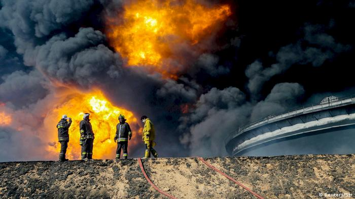 Fire at oil facility in Ras Lanuf, Libya