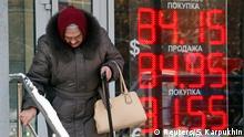 Russland Rubel Preisverfall
