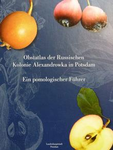 Catalog cover for heirloom fruit tree varieties that grow in the Alexandrowka Russian Colony heritage park in Potsdam (Photo: DW/N. Zimmermann)