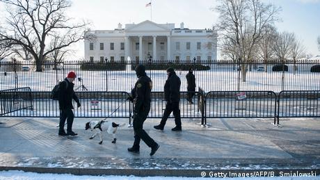 USA Washington Schneesturm Warnung