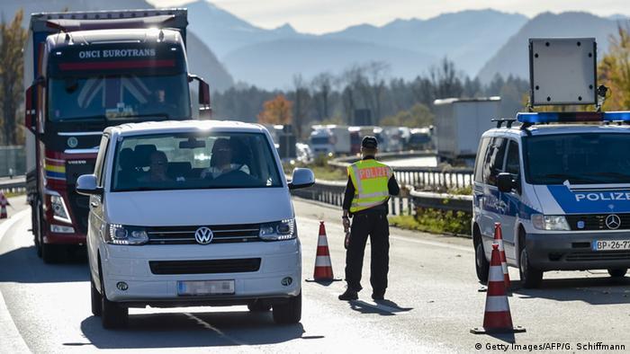 Deutschland Grenzkontrollen an der Grenze zu Österreich