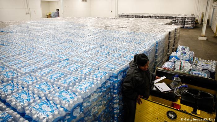 USA Trinkwasser in der Stadt Flint vergiftet Wasservorräte