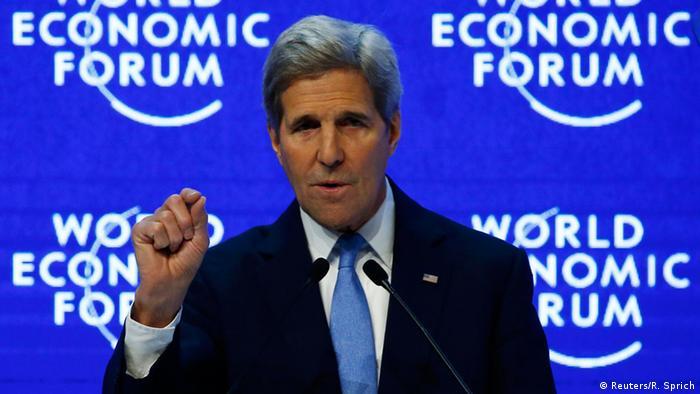 Schweiz Davos Weltwirtschaftsforum 2016 John Kerry