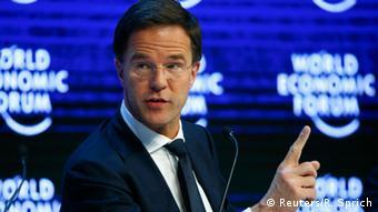 Schweiz Davos Weltwirtschaftsforum 2016 Mark Rutte