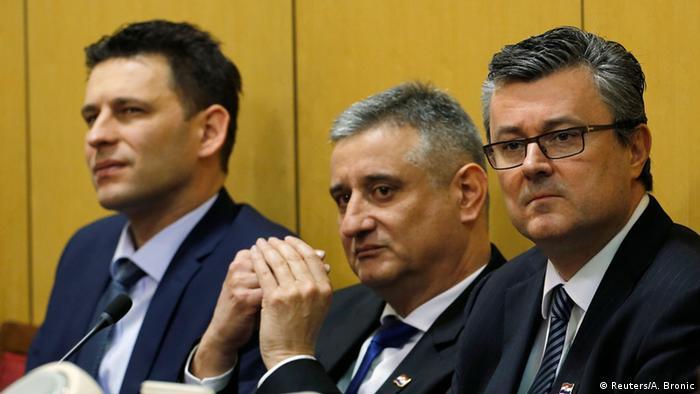 Designierter kroatischer Premierminister Tihomir Oreskovic im Parlament