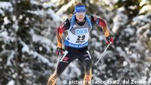 Biathlet Simon Schempp Biathlon World Cup