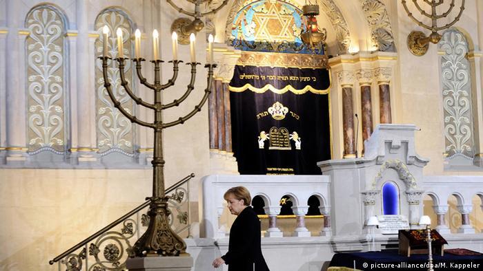Ангела Меркель в синагоге в Берлине