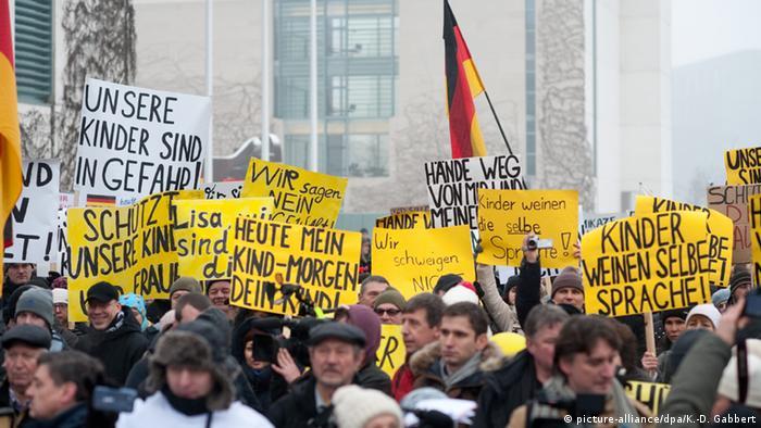 Акция у ведомства федерального канцлера в Берлине