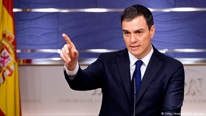 Generalsekretär der PSOE Pedro Sanchez