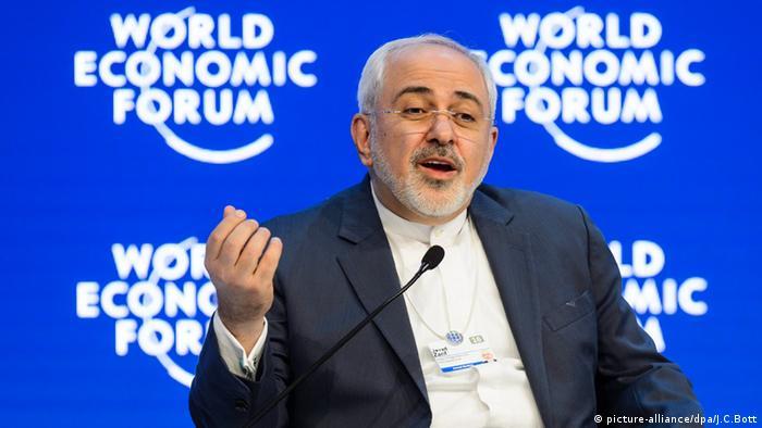 Mohammad Javad Zarif Iran Davos World Economic Forum Schweiz