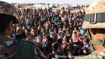 Syrian migrants on the border