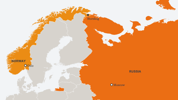 Russia, Norway map