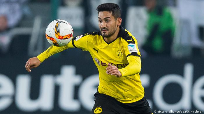 Fußball Bundesliga Borussia Mönchengladbach vs. Borussia Dortmund Ilkay Gündogan (picture-alliance/dpa/G. Kirchner)
