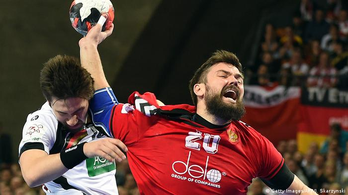 Handball EM Deutschland vs. Russland
