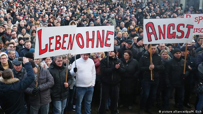 Демонстрация российских немцев в городе Виллинген-Швуннинген в январе 2016 года