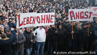 Демонстрация российских немцев в городе Виллинген-Швеннинген 24 января 2016 года