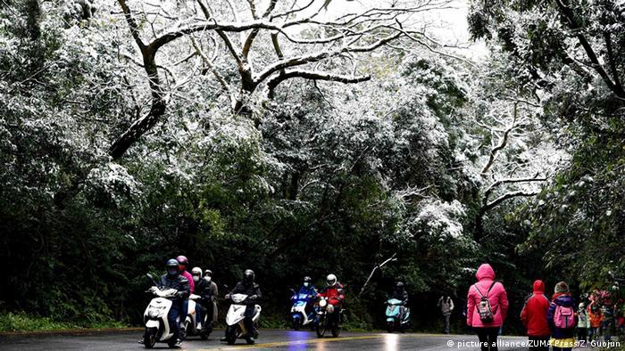 China Taiwan Kälteeinbruch