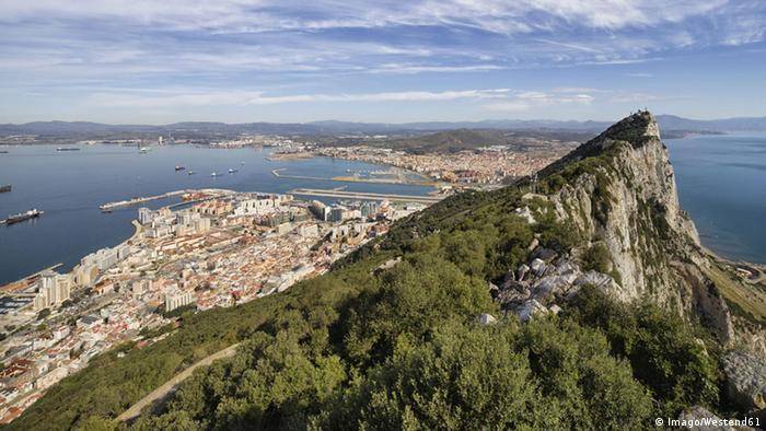 Gibraltar Blick auf das Mittelmeer