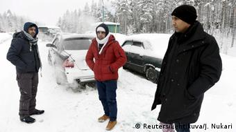 Syrian refugees at Russian-Finnish border