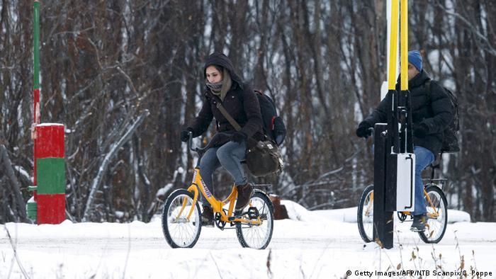 Российско-норвежскую границу можно пересечь только на транспортном средстве