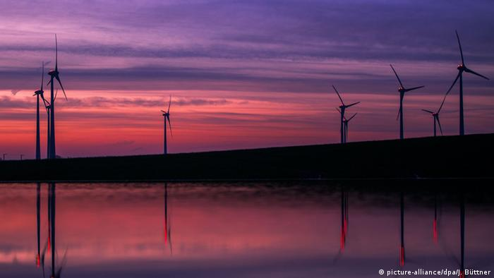 Wind farm in Renzow, Germany - photo credit dpa.