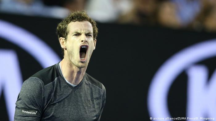 Tennis Australian Open Andy Murray schreit (Foto: picture alliance/ZUMA Press/B. Mingming)