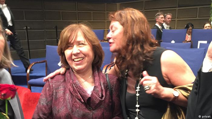 Deutschland Russland Swetlana Alexijewitsch mit Galina Dursthoff Literatur-Agentin