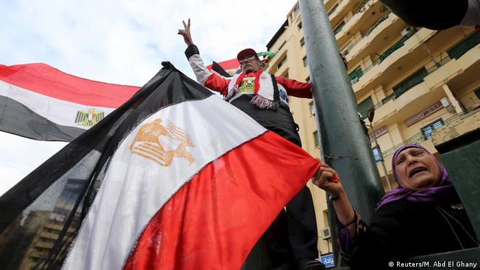 Ägypten Menschen feiern den 5. Jahrestag der Revolution am Tahrir-Platz