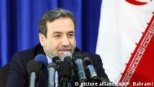 Iran Abbas Araghchi Vize Außenminister (picture alliance/AA/F. Bahrami)