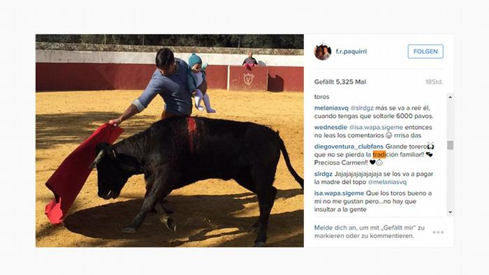 Screenshot Instagram Toros