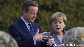 Großbritannien David Cameron und Angela Merkel in London