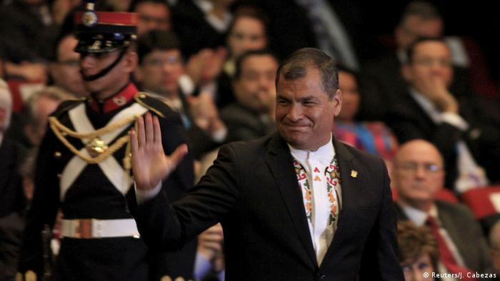 Ecuador Präsident Rafael Correa