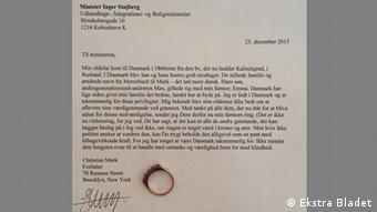 a letter Ekstra Bladet.