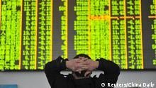 China Kursrutsch an den Börsen