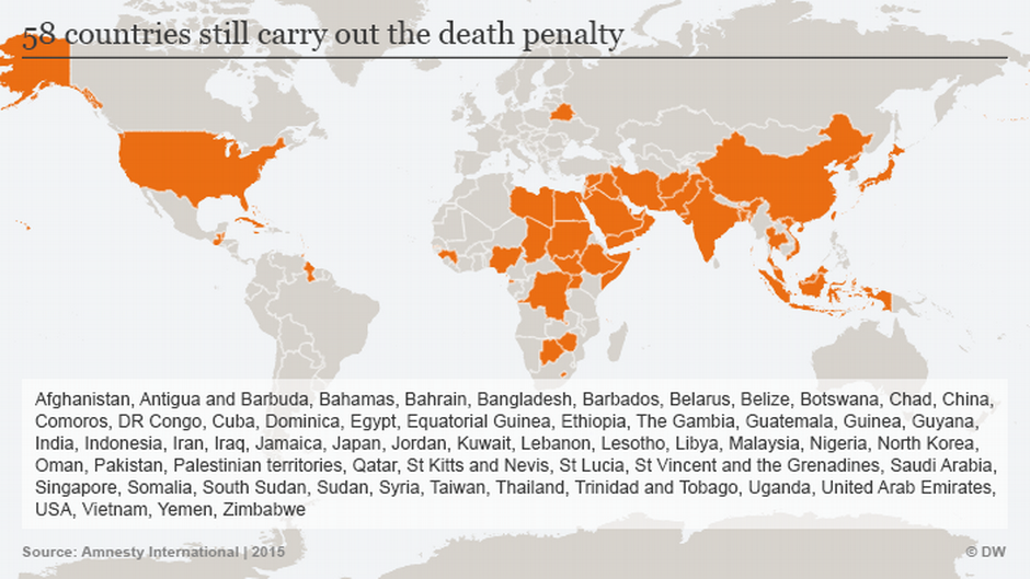 Death Penalty Makes A Comeback In US News DW - Us states with death penalty map