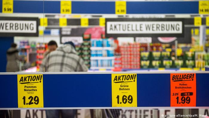 Price tags in a Lidl store