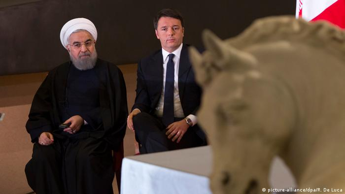 Italien Staatsbesuch Hassan Rohani mit Renzi in Rom