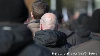 Участники акции правых экстремистов, фото из архива