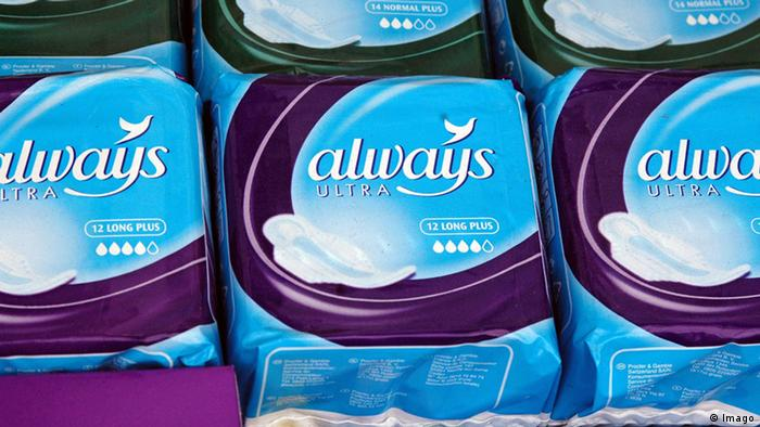 Packets of sanitary towels