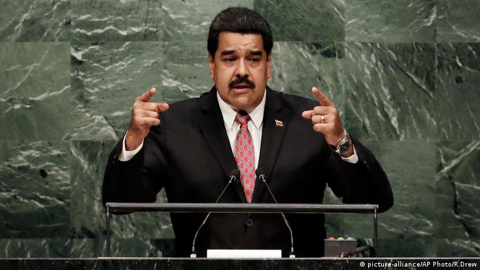 Nicolas Maduro Venezuela UN Vereinte Nationen (picture-alliance/AP Photo/R.Drew)