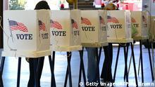Wahlkabine USA Wähler