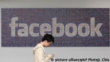 USA Facebook Schriftzug am Firmensitz in Menlo Park