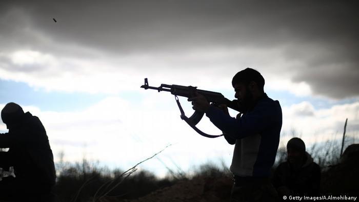 Syrien Kämpfer Islam Armee Jaish al-Islam Schatten Silhouette