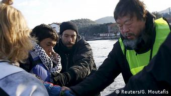 Ai Weiwei on Lesbos, Copyright: Reuters/G. Moutafis