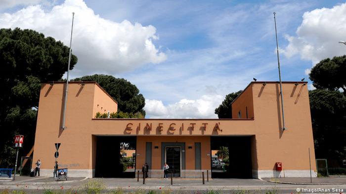 Rom Cinecitta Gelände Eingang